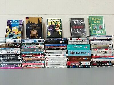 94 x DVDs & Boxsets Job Lot Collection Simpsons Peter Kay Taggart Yes Minister