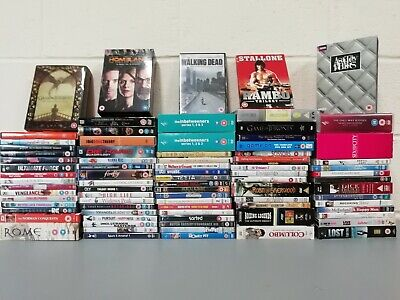 118 x DVDs & Boxsets Job Lot Collection Rambo BBC Inbetweeners Walking Dead GOT