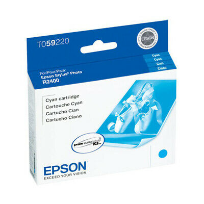 Genuine Epson 59 T0592 Cyan Ink Cartridge for Stylus Photo R2400