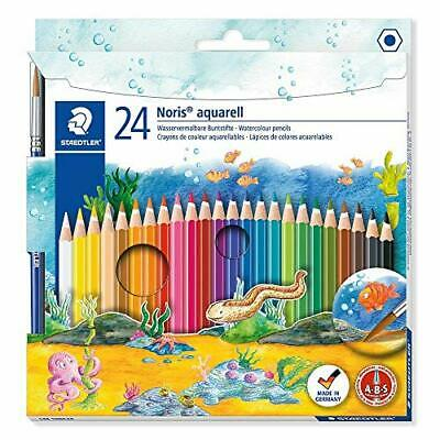 Staedtler 144 10NC24 Noris Club Aquarell Watercolour Pencils Plus Pack of 24