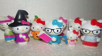Hello Kitty Toy Figure LOT OF 7 ~ Plastic