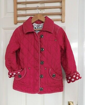 Girl's NEXT Quilted Padded Jacket Fleece lining age 6-7 years