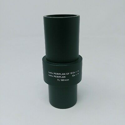 Leitz Microscope Periplan Camera Adapter Extension Tube GF 12.5x 10x TL 160mm