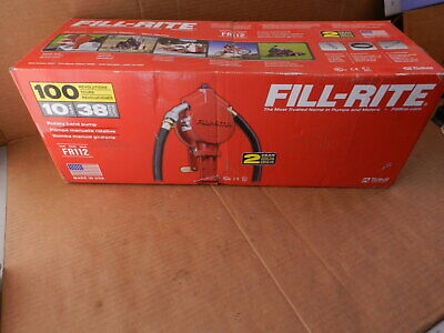 Fill-Rite FR112 10 Gal Fuel Transfer Rotary Hand Pump Diesel Gas Kerosene NEW