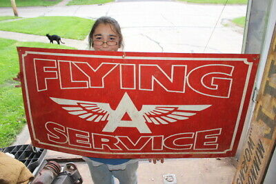 """Large Flying A Service Gas Station Oil 48"""" Metal Sign"""