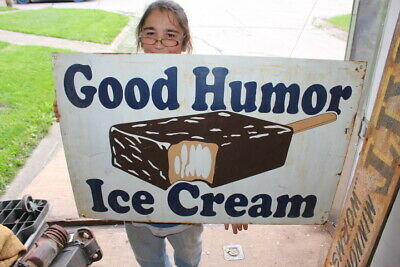 "Large Good Humor Ice Cream Truck Dairy Farm Gas Oil 36"" Metal Sign"