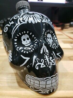 Black Kah Tequila Skull Bottle 750ml