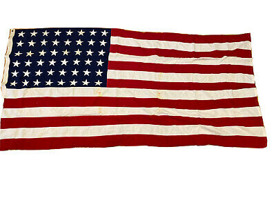 Mid-Century Valley Forge Flag Company 48 Star American Flag 5' X 9 1/2' USA
