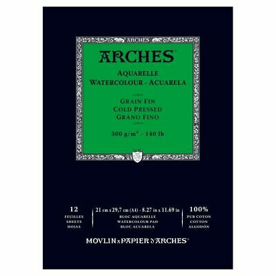ARCHES WATERCOLOUR PAD - 300 gsm COLD PRESSED (MEDIUM) A4