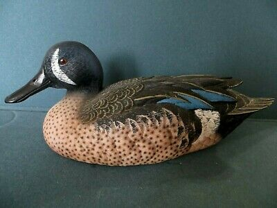 BLUE WINGED TEAL Detailed Hand-Painted Limited Ed Collection by JULES BOUILLET