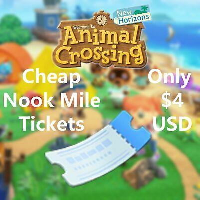 400 NOOK MILE TICKETS! Cheap and Fast Delivery! Animal Crossing New Horizons NMT