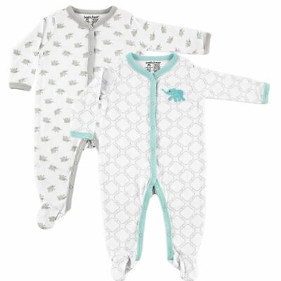 Luvable Friends Boy and Girl Sleep and Play, 2-Pack, Elephant