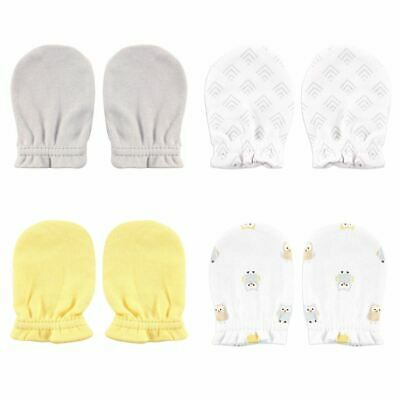 Luvable Friends Boy and Girl Scratch Mittens, 4-Pack, Yellow Owl