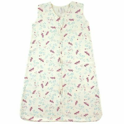 Touched By Nature Girl Organic Cotton Wearable Safe Sleeping Bag Blanket, Botani
