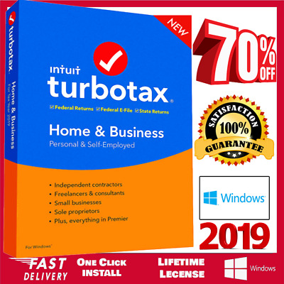 Intuit TurboTax Home & Business 2019 ❤ Latest Version for Win ❤ Fast Delivery ❤