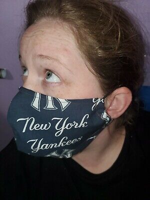 Homemade Fabric Reusable Face Mask washable New York Yankees SHIPS SAME DAY