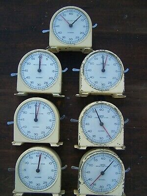 smiths stop clocks timers 7x  mostly in working order