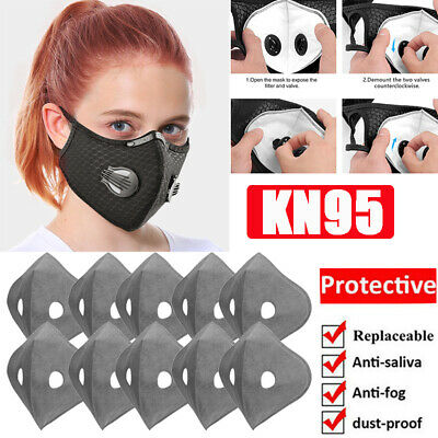 Reusable Face Cover Set With Breath valve Washable Activated Carbon Filters Pad