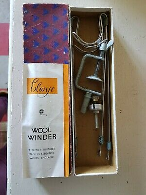 Vintage Elwye Wool Winder In Box With Instructions