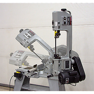 Sealey SM5 Metal Cutting Bandsaw 3-Speed 150mm 230V Horizontal/Vertical 2 Wheels
