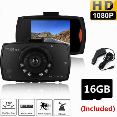 "2.4"" LCD Camera HD 1080P Car DVR Video Dash Cam Recorder G Sensor With SD Card"