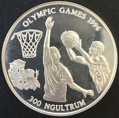 Bhutan - Silver 300 Ngultrum Coin - Olympic coin - 1994 - Proof