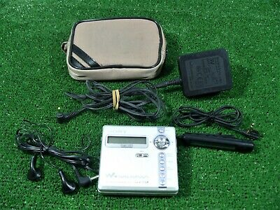 Sony Walkman Minidisc Player / Recorder Mz-N707 + Remote Control Unit + Adapter
