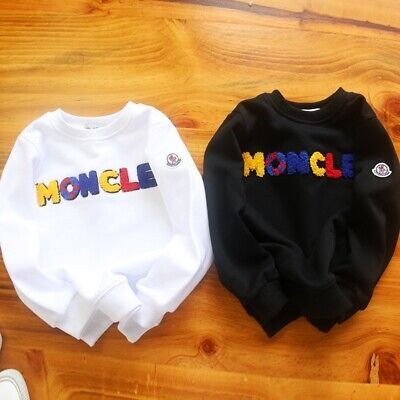 2020 Fashion Kids Boy Girls Colorful Words Hoodie Outwear Sweatershirt