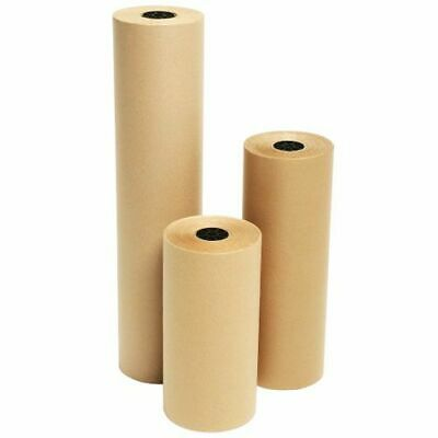 Strong Heavy Duty Brown Kraft Wrapping Paper Parcel Packing 750mm x 25M - 90gsm
