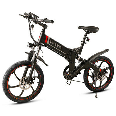 350W 20'' Samebike Smart Bicicleta EléCtrica Plegable Moped Bicycle 7 speed