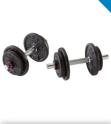 **BRAND NEW Adjustable Dumbell Set, 20kg total Weights & Compact Storage Case**
