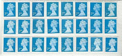 Gb 24 2Nd Class Unfranked Stamps F/V £15.60