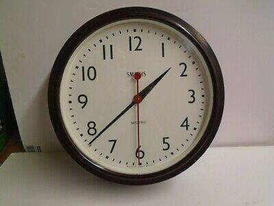 Large Smiths Sectric Bakelite Wall Clock Vintage Collectable