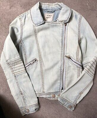 Next Girls Biker Jacket- Soft Denim Age 11