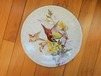 """Antique Royal Worcester Hand Painted Bird & Flower Plate 9"""""""