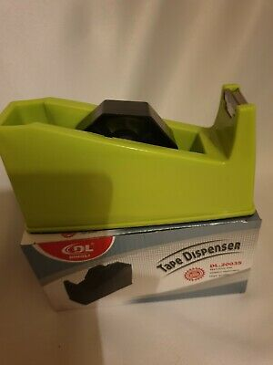 Heavy Duty Tape Dispenser In Bright Green  Colour, Office~Home~School~None Slip