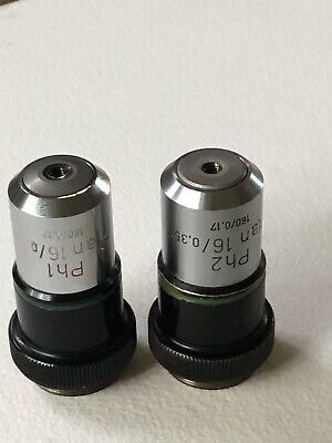 Zeiss Plan 16X 0.35 Ph1 and Ph2. Phase Contast Microscope Objective