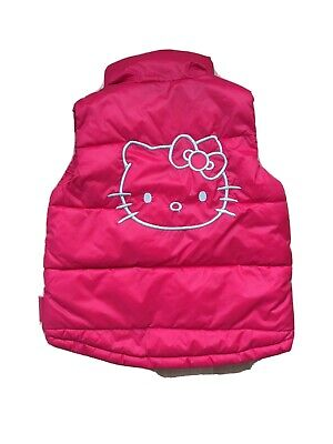 Hello Kitty Red Girls Gillet Zipped Uk 7/8 Yrs Old VGC
