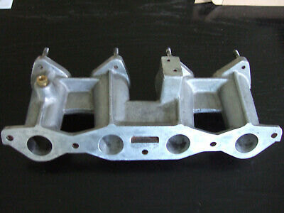 Ford Crossflow Alloy Inlet Manifold for Twin Weber or Dellorto Carburettors