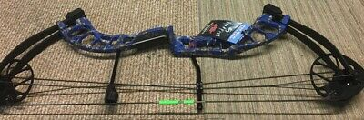 PSE D3 Bowfishing Compound Bow BLUE in COLOR  with fingers