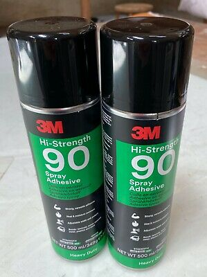 x2 Cans of 3M™ Scotch-Weld™ Hi-Strength 90 Spray Adhesive 500ml
