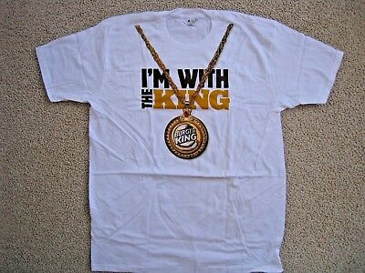 """Rare NEW Authentic Burger King I""""M WITH THE KING T-Shirt *Free Shipping*"""