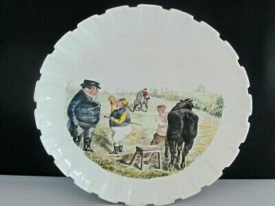 Antique Spode Copeland China Punch Handpainted Mr Briggs Horse Racing Plate