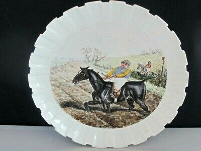 Rare Antique Spode Copeland Punch Handpainted Mr Briggs Horse Racing Plate