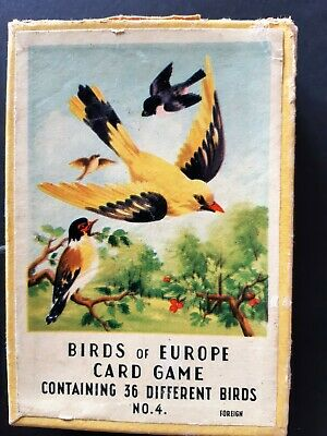 playing cards games vintage - Birds of Europe