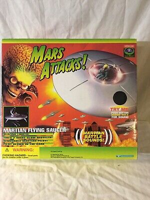 Mars Attacks Martian Saucer complete boxed working Trendmasters 1996 SEE MOVIE!