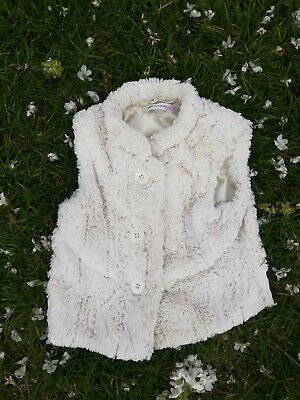 M&S Autograph Girls Age 3-4 Years cream Fur Gilet