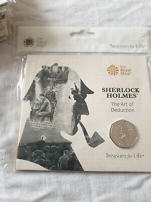 2019 Sherlock Holmes BU 50p Brilliant Uncirculated Royal Mint Coin Pack
