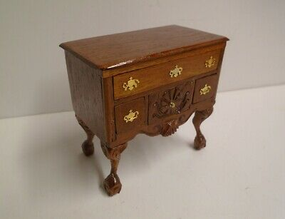 Vintage Wooden Writing Desk with Drawers Study Room Table Dolls House Handmade