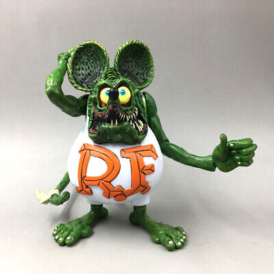 """4"""" White RAT FINK Big """"Daddy"""" Ed Roth Action Figure No Box"""